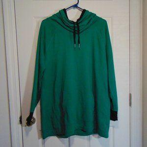 Liz Claiborne Cowl Neck Green Hoodie XL
